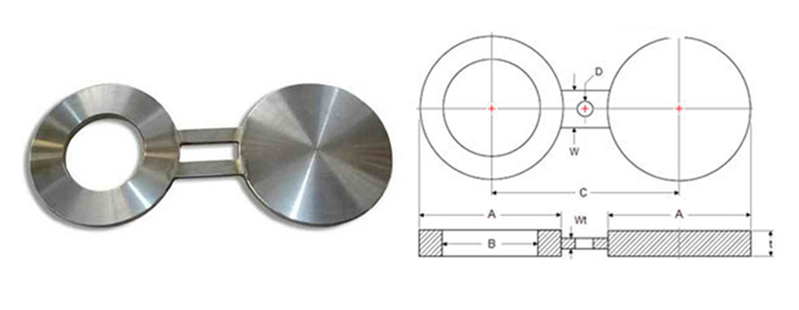 ss spectacle blind flange manufacturer in india