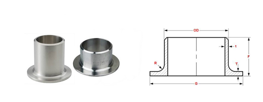 pipe fitting lap joint