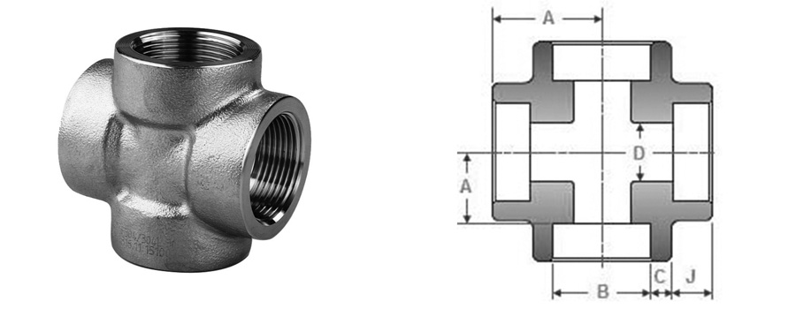 stainless steel forged fitting cross manufacturers